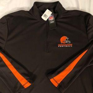 NFL Team Apparel quarter zip Cleveland Browns XL